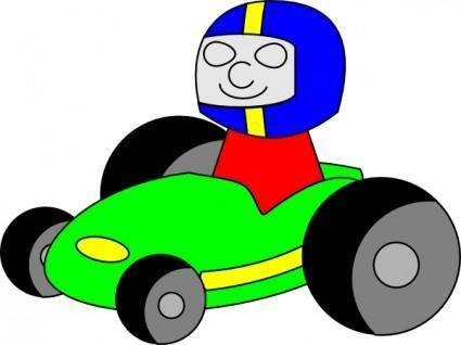 free vector Tombrough Gokart clip art