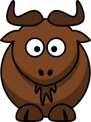 Cartoon Gnu clip art