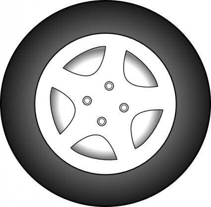 Wheel Chrome Rims clip art