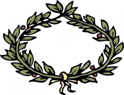 free vector Laurel Crown clip art