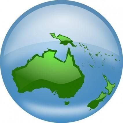 Oceania Globe clip art