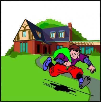 House Robbery clip art