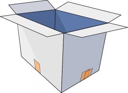 free vector 3d Empty Open Box clip art