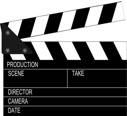 Movie Clapper Board clip art