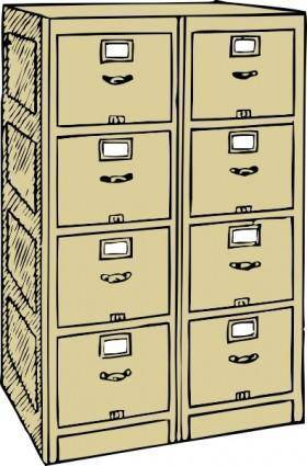 free vector Double Drawer File Cabinet clip art