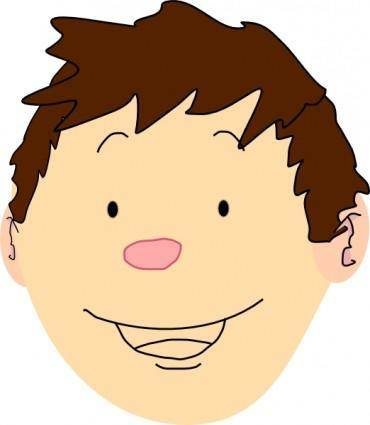 free vector Boy Face clip art