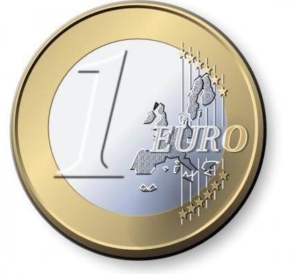One Euro Coin clip art 105830