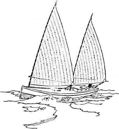 free vector Sailboat clip art