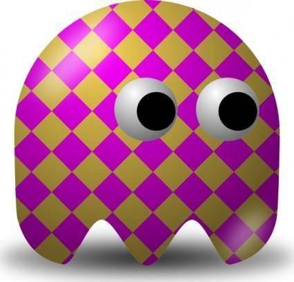 free vector Pcman  Game Baddie Squared clip art