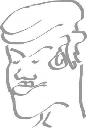 free vector Pirate Man clip art