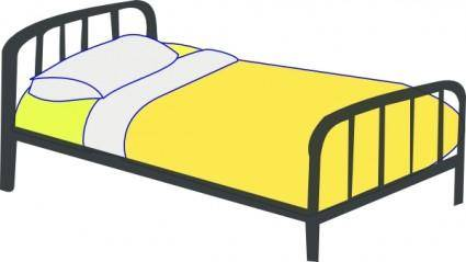Single Bed clip art