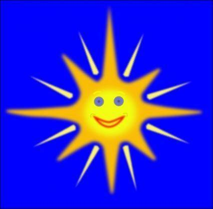 free vector Happy Sun clip art