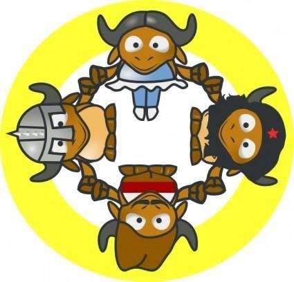 Gnu Circle clip art