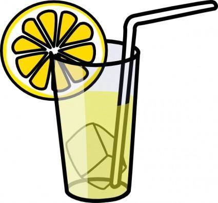 free vector Lemonade Glass clip art