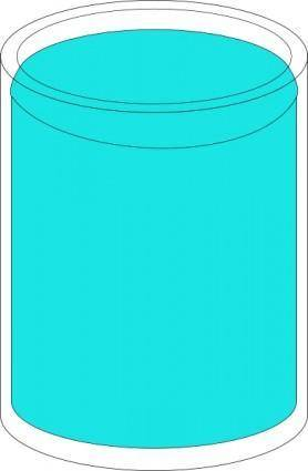 free vector Glass Of Water clip art