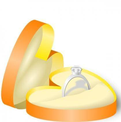 Rockraikar Wedding Ring In A Box clip art