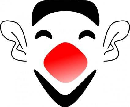 Laughing Clown Face clip art