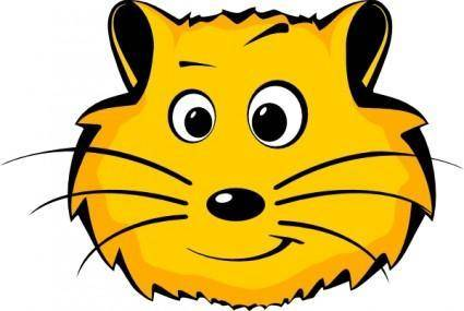 Comic Hamster Face clip art
