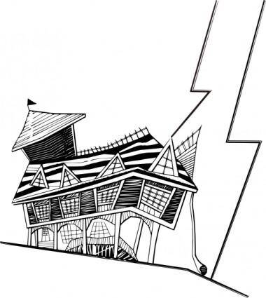 free vector Crooked House clip art
