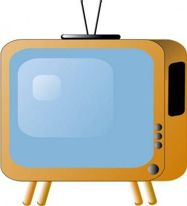 Old Styled Tv Set clip art