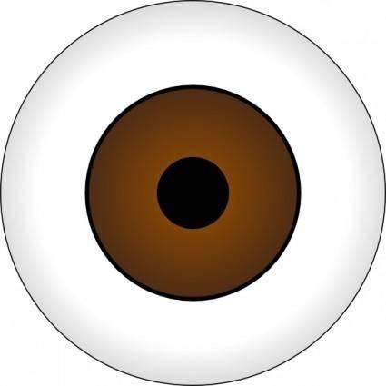 Tonlima Olhos Castanhos Brown Eye clip art
