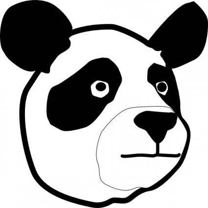 Panda Head clip art
