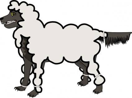 free vector Jonadab Wolf In Sheep S Clothing clip art
