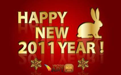 Gold New Year Vector