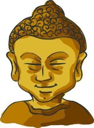 Buddha Head clip art