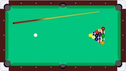 free vector Scheibej Pool Table Cue Balls clip art