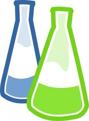 Chemistry Lab Flasks clip art