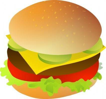 Cheese Burger clip art