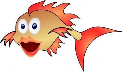 free vector Gold Fish clip art