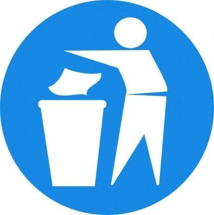 Doctormo Put Rubbish In Bin Signs clip art