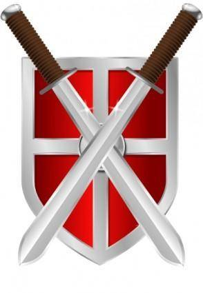 Swords And Shield clip art
