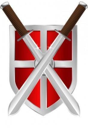 Swords And Shield clip art