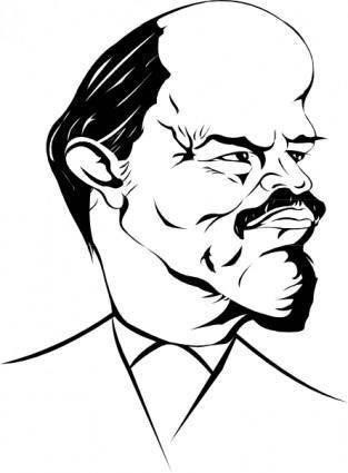 Lenin Caricature clip art
