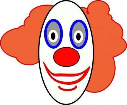 Creepy Clown Face clip art