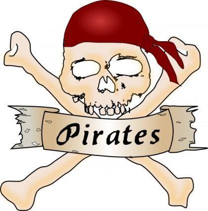 free vector Pirate Skull clip art