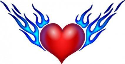 free vector Burning Heart clip art