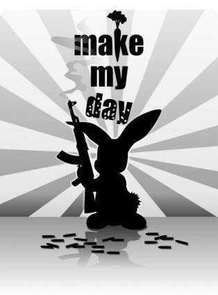 free vector Liakad Rabbit Gun clip art