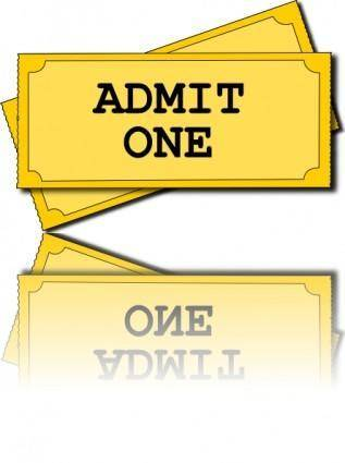 free vector Movie Tickets clip art