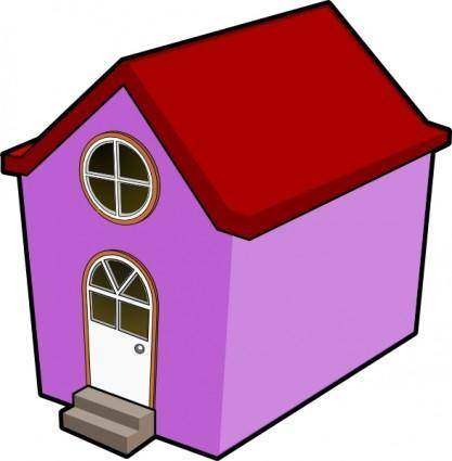free vector Bigredsmile A Little Purple House clip art