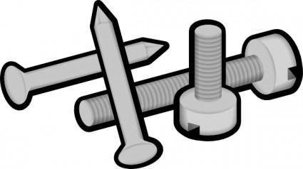 free vector Screws And Nails clip art