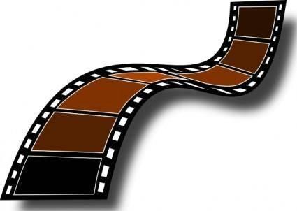 Sepia Film Strip clip art
