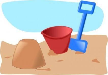free vector Addon Sandcastle clip art