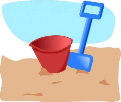 free vector Bucket And Spade clip art