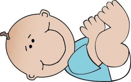 free vector Baby Boy Lying clip art
