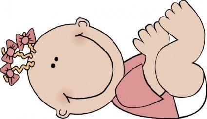 Baby Girl Lying clip art