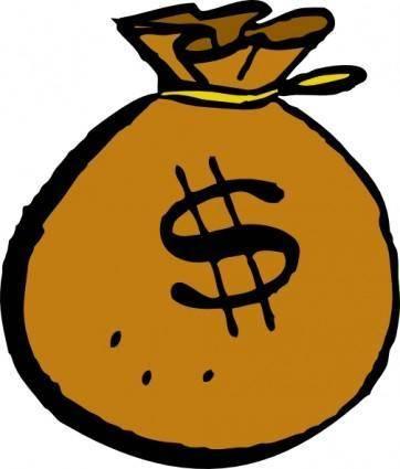 free vector Money Bag clip art